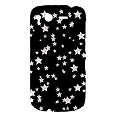 Black And White Starry Pattern HTC Desire S Hardshell Case