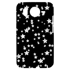 Black And White Starry Pattern HTC Desire HD Hardshell Case