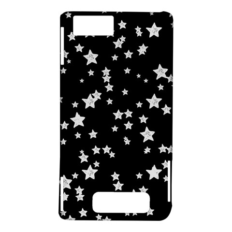 Black And White Starry Pattern Motorola DROID X2