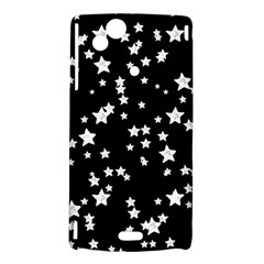 Black And White Starry Pattern Sony Xperia Arc