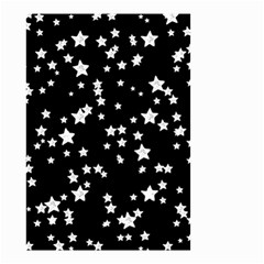 Black And White Starry Pattern Small Garden Flag (Two Sides)