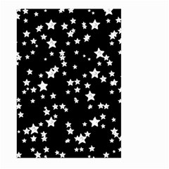 Black And White Starry Pattern Large Garden Flag (Two Sides)