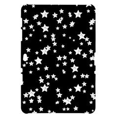 Black And White Starry Pattern Samsung Galaxy Tab 10.1  P7500 Hardshell Case