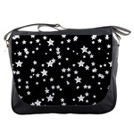 Black And White Starry Pattern Messenger Bags Front