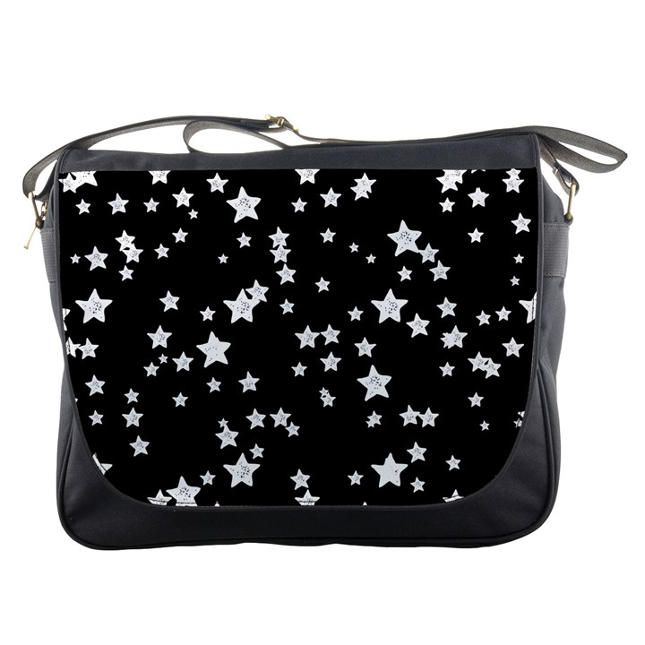 Black And White Starry Pattern Messenger Bags
