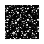 Black And White Starry Pattern Acrylic Tangram Puzzle (6  x 6 ) Front