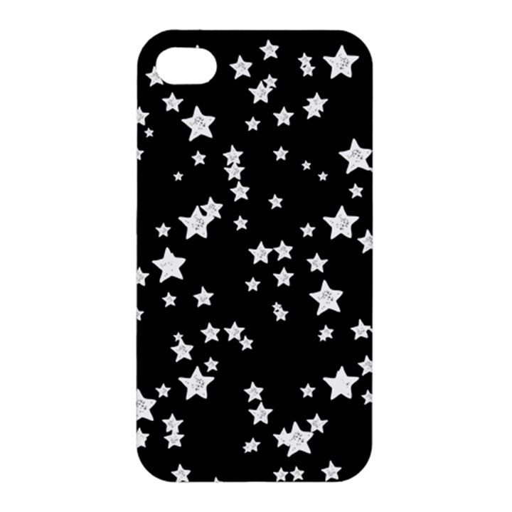 Black And White Starry Pattern Apple iPhone 4/4S Premium Hardshell Case