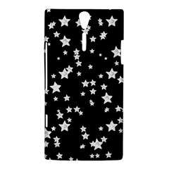 Black And White Starry Pattern Sony Xperia S