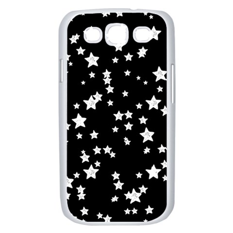 Black And White Starry Pattern Samsung Galaxy S III Case (White)