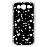 Black And White Starry Pattern Samsung Galaxy S III Case (White) Front