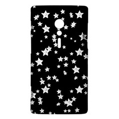 Black And White Starry Pattern Sony Xperia ion