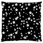 Black And White Starry Pattern Large Cushion Case (One Side) Front