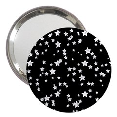 Black And White Starry Pattern 3  Handbag Mirrors