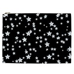 Black And White Starry Pattern Cosmetic Bag (XXL)  Front