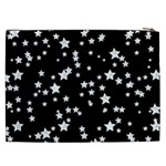 Black And White Starry Pattern Cosmetic Bag (XXL)  Back