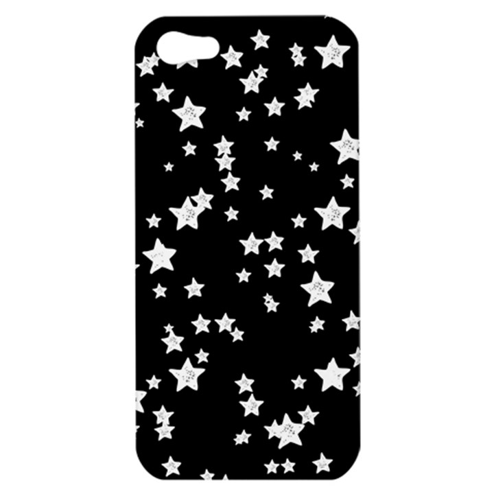 Black And White Starry Pattern Apple iPhone 5 Hardshell Case