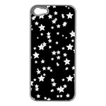 Black And White Starry Pattern Apple iPhone 5 Case (Silver) Front