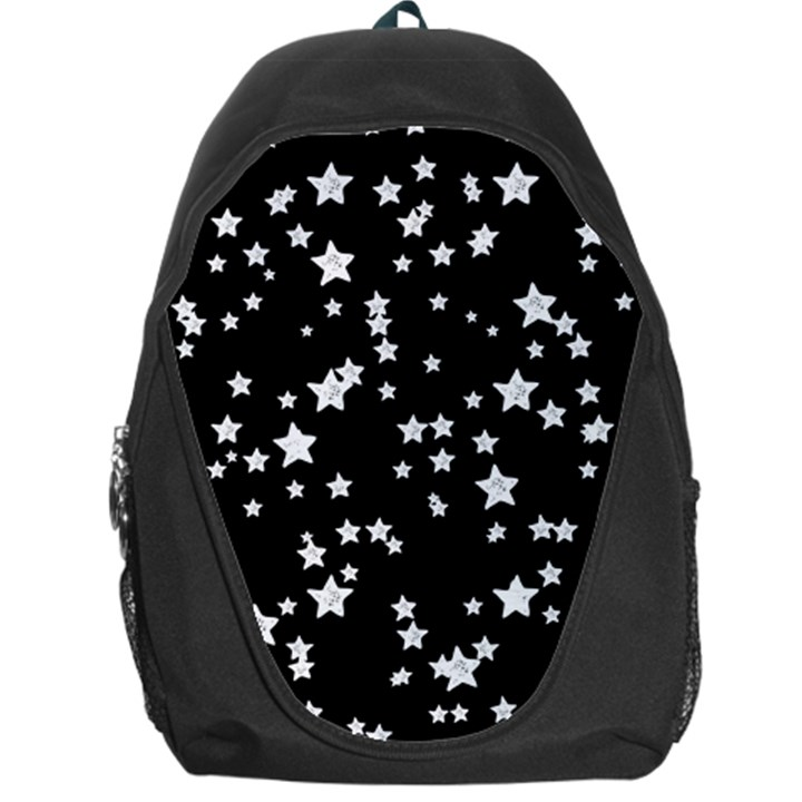 Black And White Starry Pattern Backpack Bag