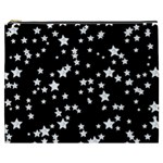 Black And White Starry Pattern Cosmetic Bag (XXXL)  Front