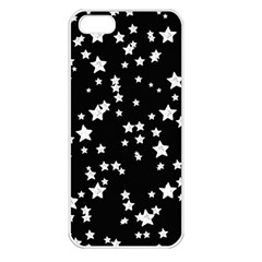 Black And White Starry Pattern Apple iPhone 5 Seamless Case (White)