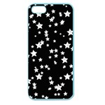 Black And White Starry Pattern Apple Seamless iPhone 5 Case (Color) Front