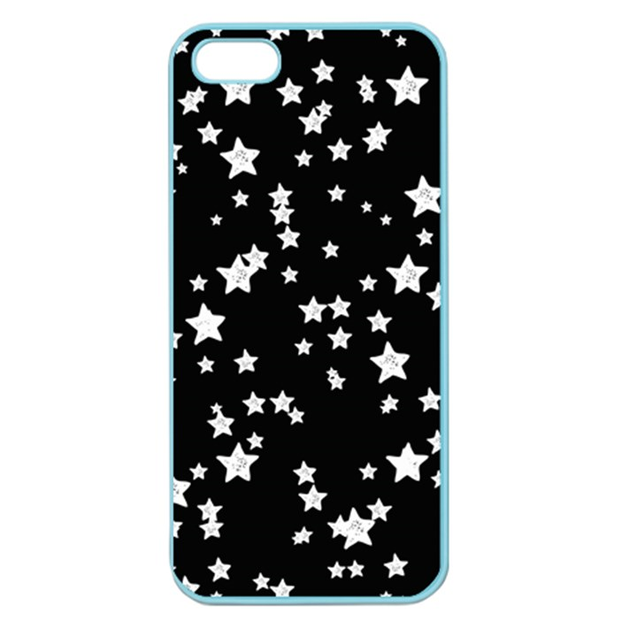 Black And White Starry Pattern Apple Seamless iPhone 5 Case (Color)