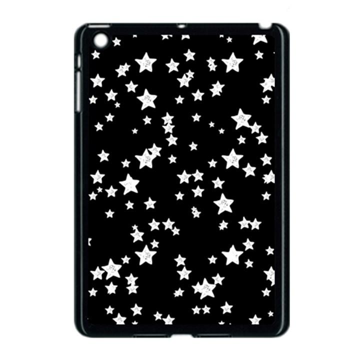Black And White Starry Pattern Apple iPad Mini Case (Black)