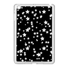 Black And White Starry Pattern Apple iPad Mini Case (White)