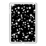 Black And White Starry Pattern Apple iPad Mini Case (White) Front