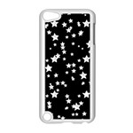Black And White Starry Pattern Apple iPod Touch 5 Case (White) Front