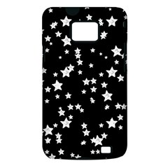 Black And White Starry Pattern Samsung Galaxy S II i9100 Hardshell Case (PC+Silicone)