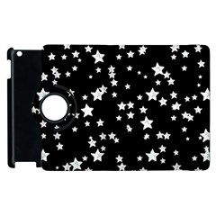 Black And White Starry Pattern Apple Ipad 2 Flip 360 Case