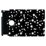 Black And White Starry Pattern Apple iPad 3/4 Flip 360 Case Front