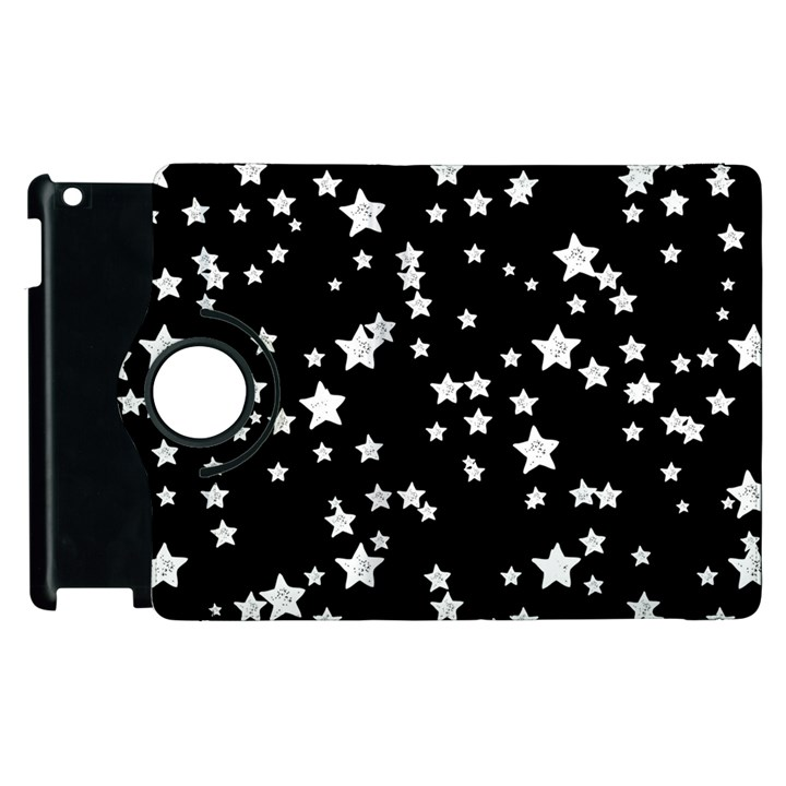 Black And White Starry Pattern Apple iPad 3/4 Flip 360 Case