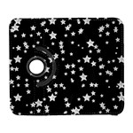 Black And White Starry Pattern Samsung Galaxy S  III Flip 360 Case Front