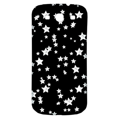 Black And White Starry Pattern Samsung Galaxy S3 S III Classic Hardshell Back Case