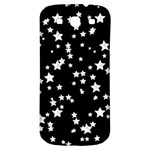 Black And White Starry Pattern Samsung Galaxy S3 S III Classic Hardshell Back Case Front