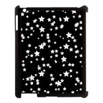 Black And White Starry Pattern Apple iPad 3/4 Case (Black) Front