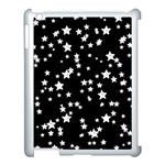 Black And White Starry Pattern Apple iPad 3/4 Case (White) Front