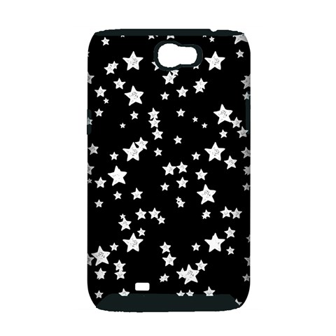 Black And White Starry Pattern Samsung Galaxy Note 2 Hardshell Case (PC+Silicone)