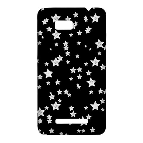 Black And White Starry Pattern HTC One SU T528W Hardshell Case
