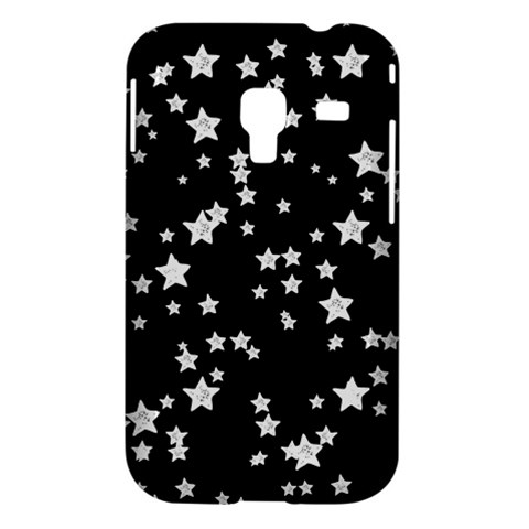 Black And White Starry Pattern Samsung Galaxy Ace Plus S7500 Hardshell Case