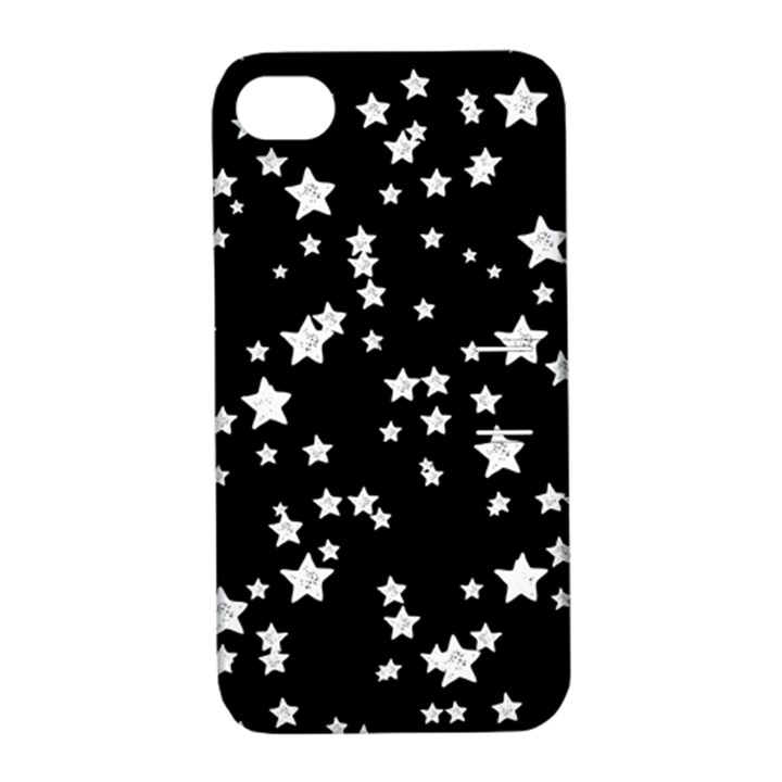Black And White Starry Pattern Apple iPhone 4/4S Hardshell Case with Stand