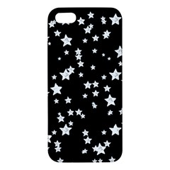 Black And White Starry Pattern Apple Iphone 5 Premium Hardshell Case