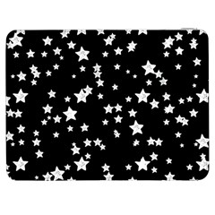 Black And White Starry Pattern Samsung Galaxy Tab 7  P1000 Flip Case