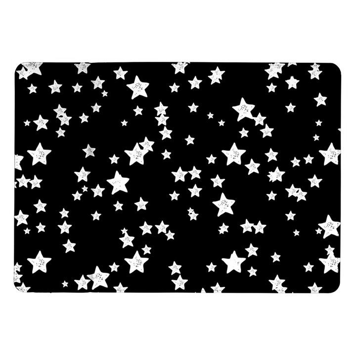 Black And White Starry Pattern Samsung Galaxy Tab 10.1  P7500 Flip Case