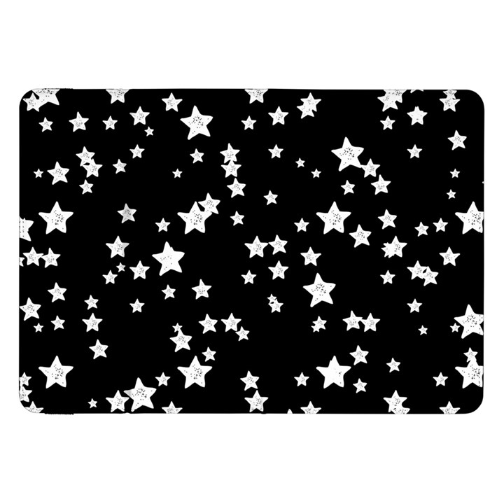 Black And White Starry Pattern Samsung Galaxy Tab 8.9  P7300 Flip Case