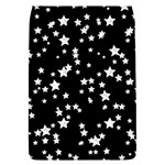 Black And White Starry Pattern Flap Covers (L)  Front
