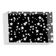 Black And White Starry Pattern 4 x 6  Acrylic Photo Blocks