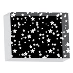 Black And White Starry Pattern 5 x 7  Acrylic Photo Blocks Front